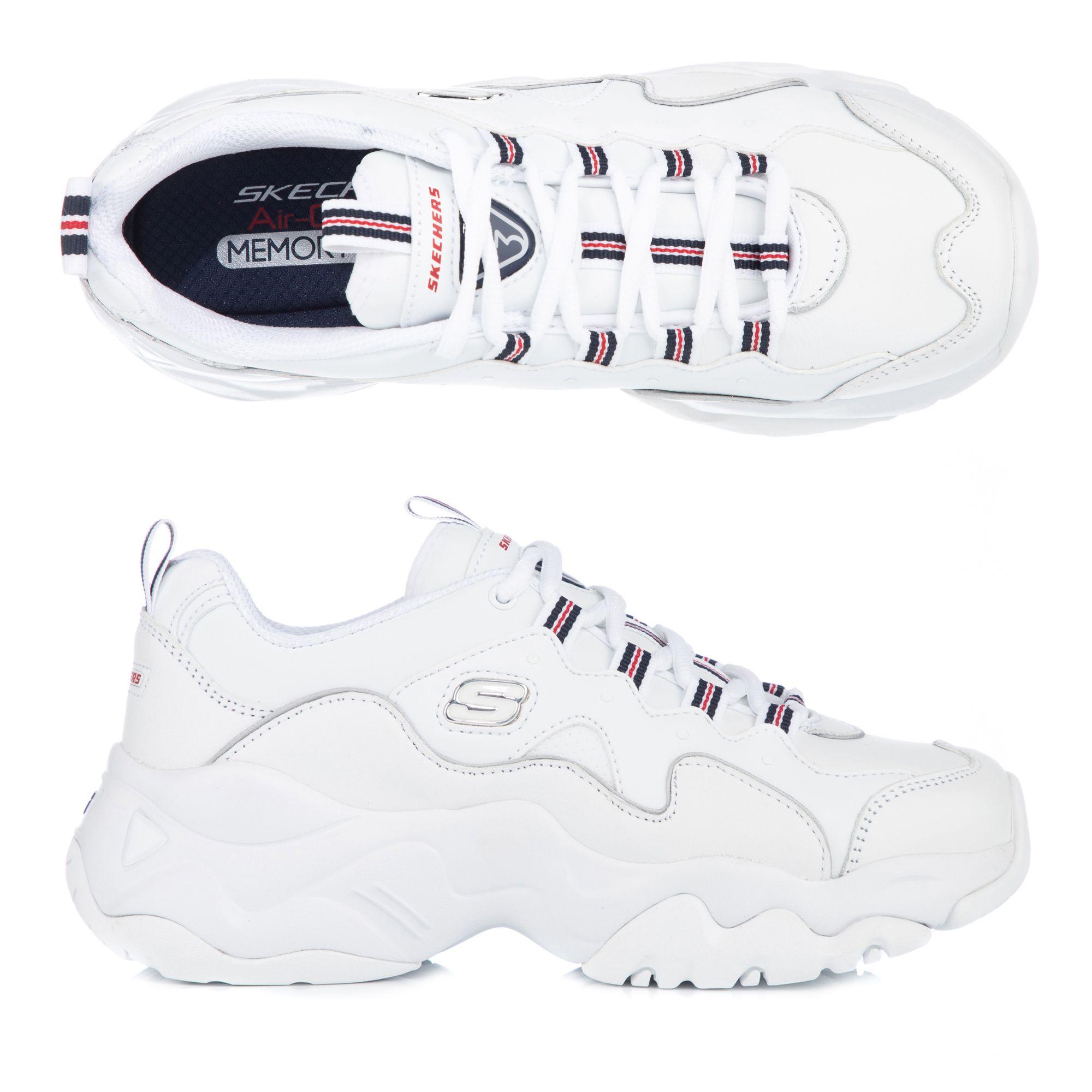 SKECHERS Damen Sneaker D´Lites 3.0 echt Leder Memory Foam —