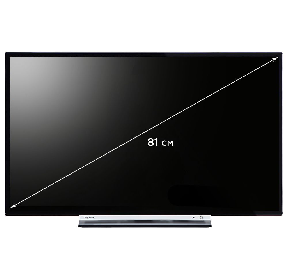 toshiba 81cm smart tv hd ready 400hz hd 3fach tuner usb. Black Bedroom Furniture Sets. Home Design Ideas