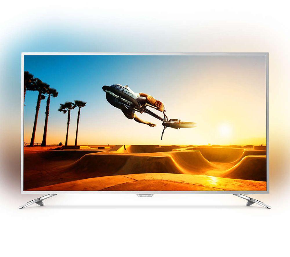 PHILIPS 139cm Smart TV Ambilight 3seitig Ultra HD, HDR Plus USB ...