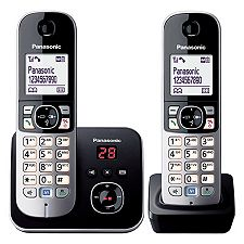 PANASONIC DECT-Telefon 4,57cm LCD-Display Zusatz Mobilteil beleucht. Tastatur KX-TG6822