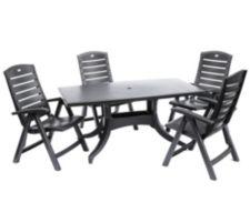 HARTMAN  Kunststoff- Sitzgruppe 4 Stühle & 1 Tisch outdoorgeeignet