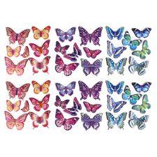 HEIKE SCHÄFER  Wanddekoration 3D-Wandsticker Schmetterlinge 6tlg.