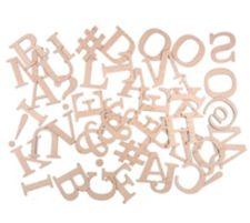 DAWN BIBBY  Kreativ-Set Holzbuchstaben & Sonderzeichen 44tlg.