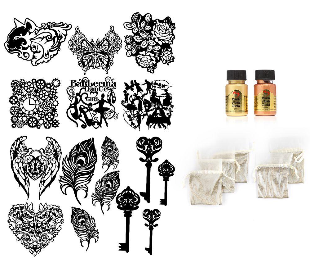 KARIN JITTENMEIER Club-Artikel Textildesign Royal Flash & Schablonen ...