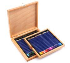 Kreativ-Set 48 Buntstifte in Holzbox versch. Farben 49tlg.