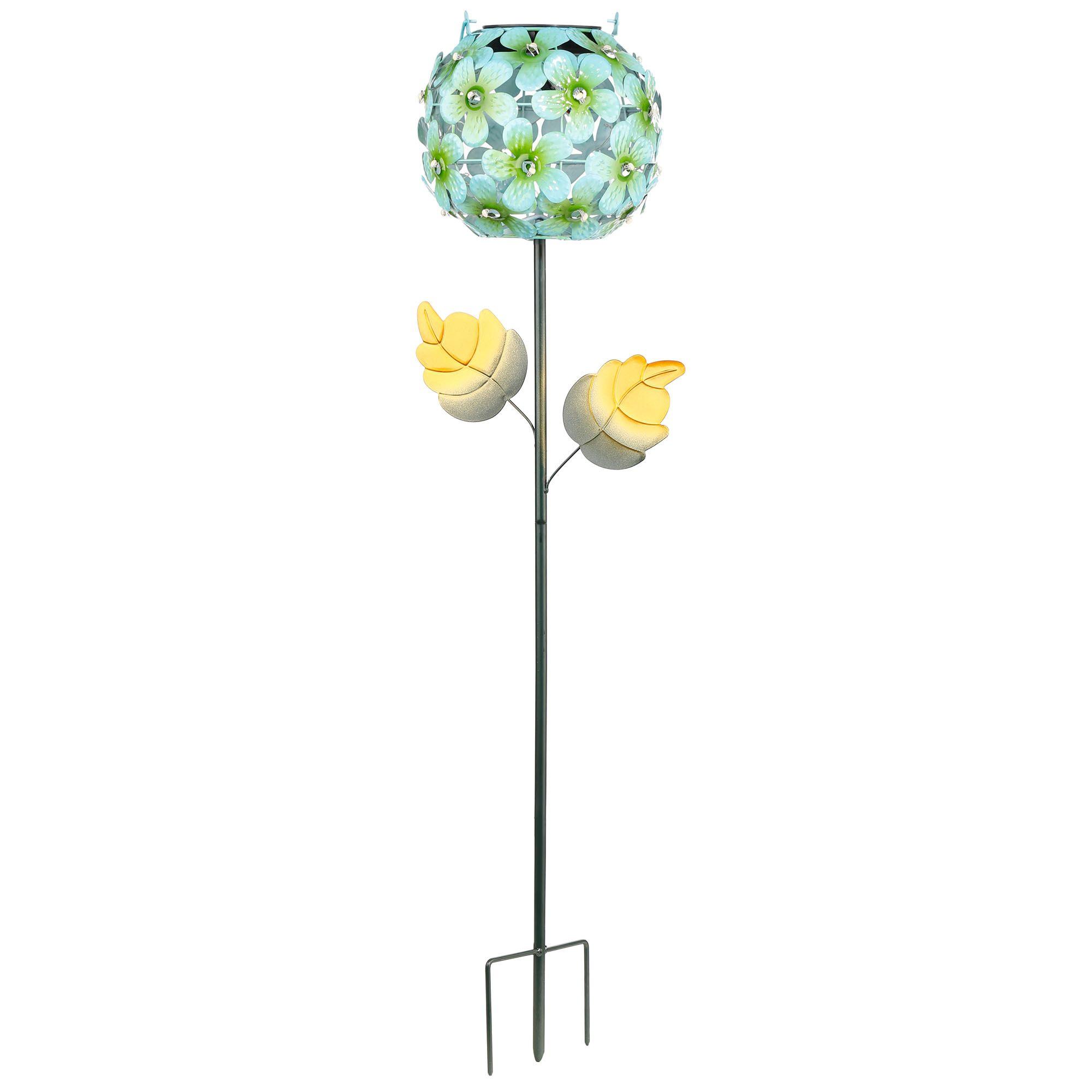 Hängeleuchte Blüten mit SolarfunktionSolarleuchteLED LeuchteGartendeko