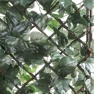 Gartenparavent Praktischer Sichtschutz Blatt Design 3 Elemente B A