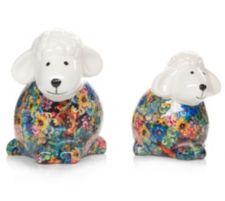 GARTEN CHIC  Keramik-Schaf Dekoration outdoorgeeignet 2er-Set