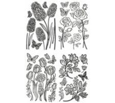 HEIKE SCHÄFER  Wanddekoration Wandsticker Blumen 4tlg.