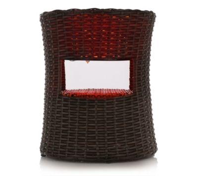 *NEU*: Gartenbeistelltisch aus Polyrattan mit Farbwechsel-LED