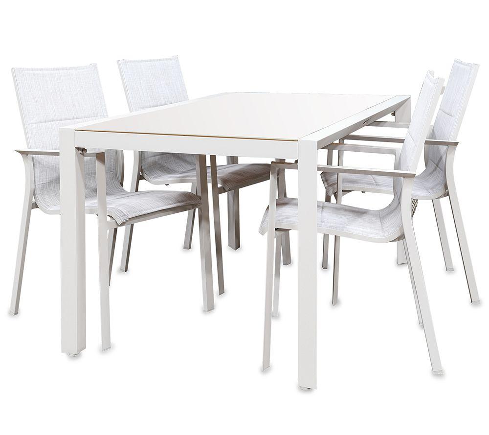 GREEMOTION Gartenmöbel-Set Oslo 1 Tisch & 4 Stühle — QVC.de