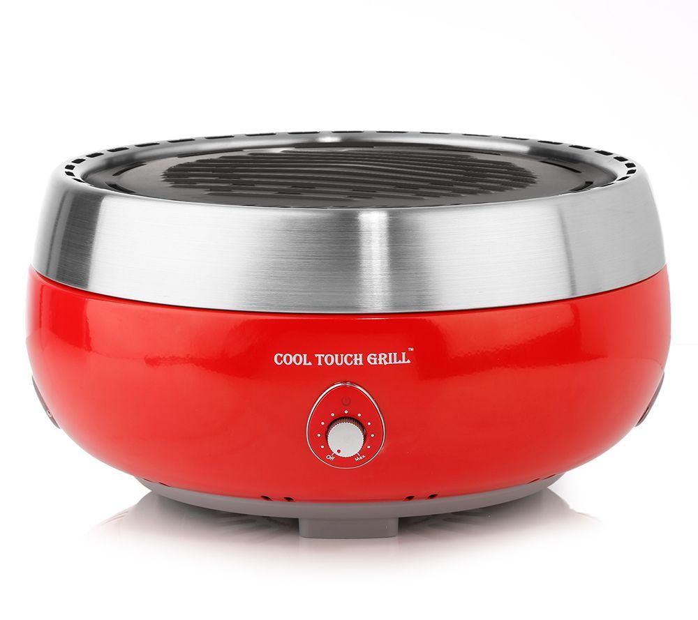 cool touch grill rauchfreier holzkohle- tischgrill 5 j. garantie