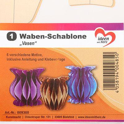 KARIN JITTENMEIER Kreativ-Set Wabenkunst inkl. Schablonen 113tlg ...