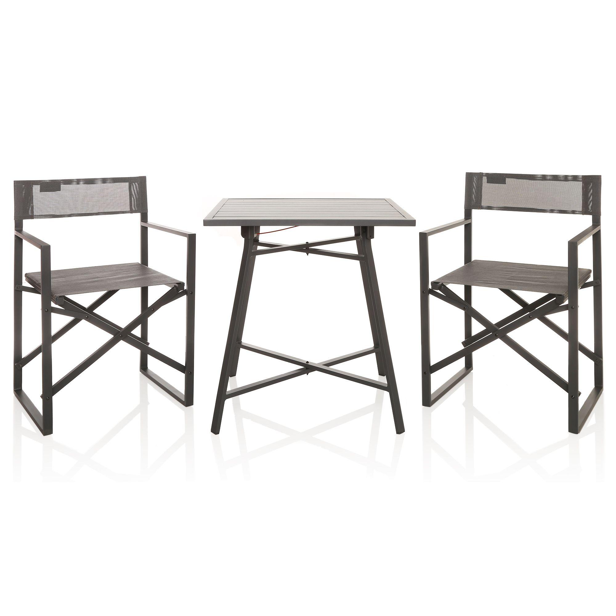 Westfield Balkon Set 2 Stühle 1 Tisch Faltbar Alutextil Qvc De