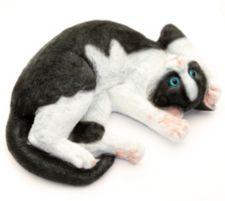 MÄRCHENWALD  Katze handbemalt Polyresin detailgetreu
