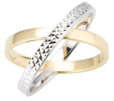 GOLDRAUSCH  Cross-Ring Bicoloroptik mindestens 2,70g Gold 585