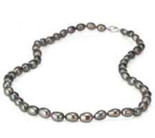 HONORA  Collier Süßwasserzucht- perlen 6-7mm Silber rhodiniert