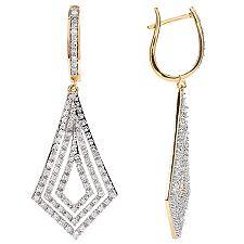 Ohrhänger 140 Diamanten zus.ca.0,75ct Weiß/P1 Gold 585