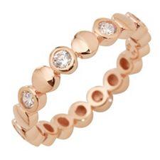 DIAMONIQUE® TRENDS Ring = 0,25ct Silber roséverg.