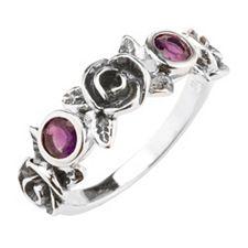 OR PAZ Ring Blütendesign geschwärzt Silber 925