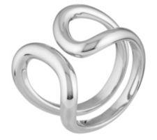 BIANCA  Ring offen gearbeitet poliert Silber 925