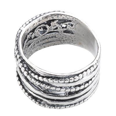 or paz crossover ring florales dekor strukturiert silber 925 page 1. Black Bedroom Furniture Sets. Home Design Ideas