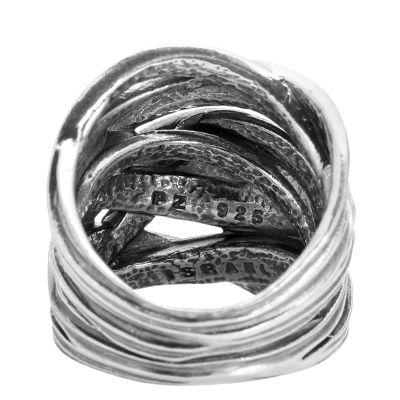 or paz ring modern knoten optik geschw rzt silber 925 page 1. Black Bedroom Furniture Sets. Home Design Ideas