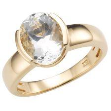 CUMARU  Aquamarin Ring 2,40ct Ovalschliff Gold 585
