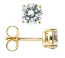DIAMONIQUE ® Ohrstecker = 1,50ct Brillantschliff Silber 925