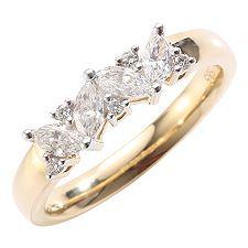 ANTWERPEN Schliffmix W-SI, zus.ca.0,53ct Ring Gold 585