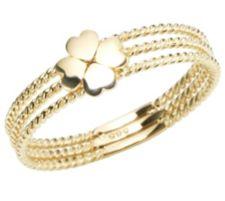 GOLDRAUSCH  Gold 585 Ring Kleeblatt