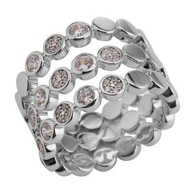 JETTE Designerschmuck Ringset 3 teilig Silber rhodiniert Preisvergleich