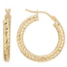 GOLDRAUSCH  Creolen Ø 20mm diamantiert Gold 585
