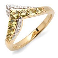 JEPARA Pallavin 0,40ct V-Ring Brillanten 0,05ct Gold 585