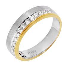 16 Brillanten Ring zus. ca. 0,34ct Weiß/SI Platin 950/Gold 750