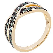 Alexandrit 0,60ct Rundschliff Croisé-Ring Gold 585