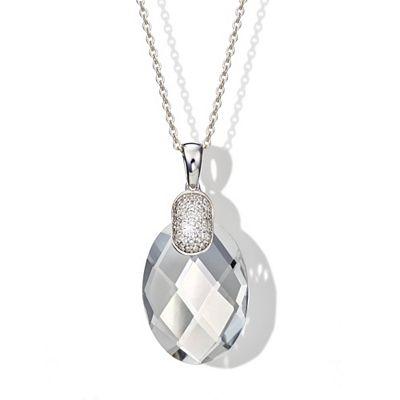 WHITE PARTY Anhänger mit Kette Bergkristall Weißtopas Silber 925 Preisvergleich