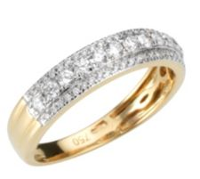 CANADIAN DIAMONDS  Ring 61 Brillanten 0,50ct Feines Weiß/SI Gold 750