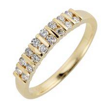 16 Brillanten Ring zus. ca. 0,35ct feines Weiß/lupenrein Gold 585