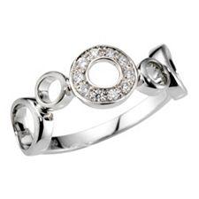 Ring 10 Brillanten zus. ca. 0,11ct Weiß/SI Platin 950