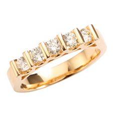 Ring 5 Brillanten get. Weiß/lupenrein zus. ca. 0,50ct Gold 585