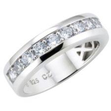 DIAMONIQUE ® Memoirering = 1,20ct Brillantschliff Silber 925