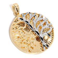 GOLDRAUSCH  Gold 375 Anhänger Lebensbaum bicolor