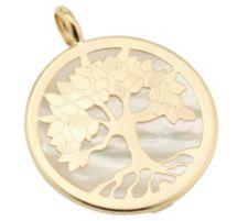 GOLDRAUSCH  Anhänger Lebensbaum Perlmutt Gold 585