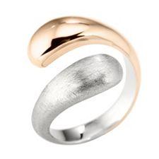 SMYKE Schmuckdesign Croisé-Ring Edelstahl, bicolor