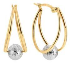 GOLDRAUSCH  Creolen bicolor diamantiert Gold 585