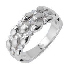 Ring 10 Brillanten zus. ca. 0,25ct Weiß/SI Weißgold 585