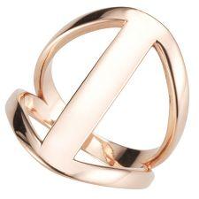 BRONZO ITALIA  Ring poliert Bronze/roséverg.