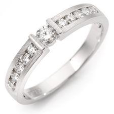 11 Brillanten Ring zus. ca. 0,50ct Weiß/SI Platin 950