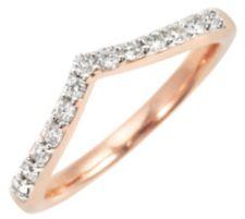 13 Brillanten Ring zus. ca. 0,20ct Weiß/P1 Roségold 375